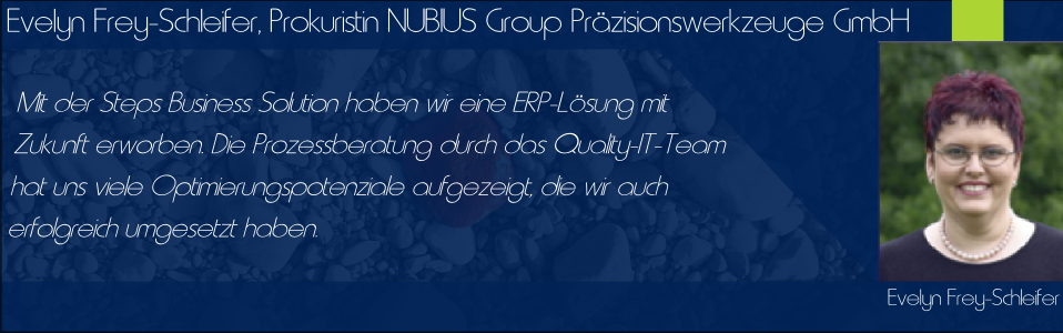 Referenz: NUBIUS GROUP Präzisionswerkzeuge GmbH