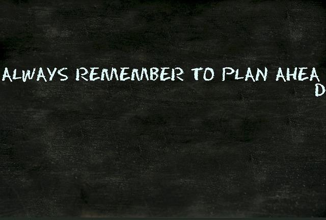 Planung ist alles